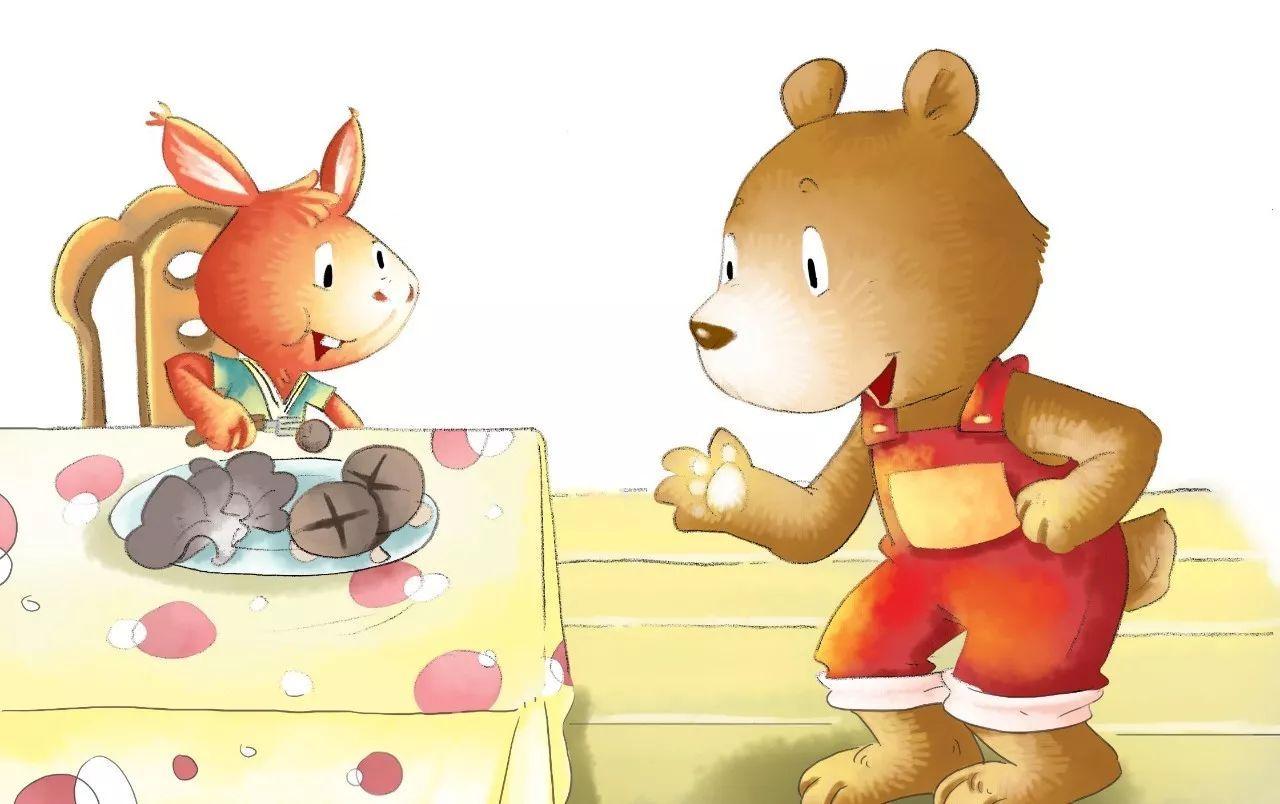 """"""" 小动物们听了小熊的话,都下决心做一个不挑食,不偏食的好孩子.图片"""