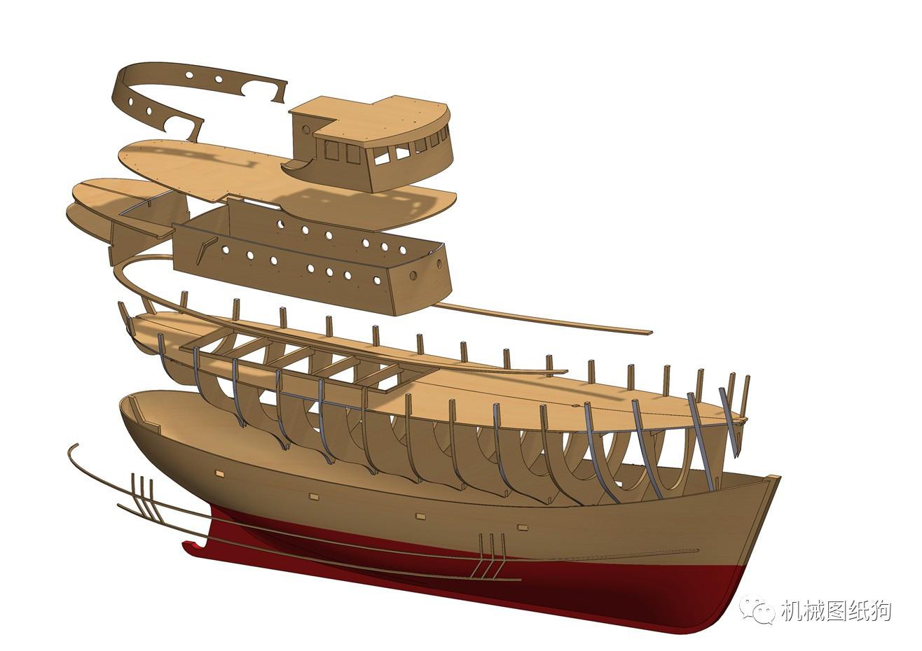 图纸模型3D图片solidWorks设计step渔船推荐室内设计格式网站高清图片