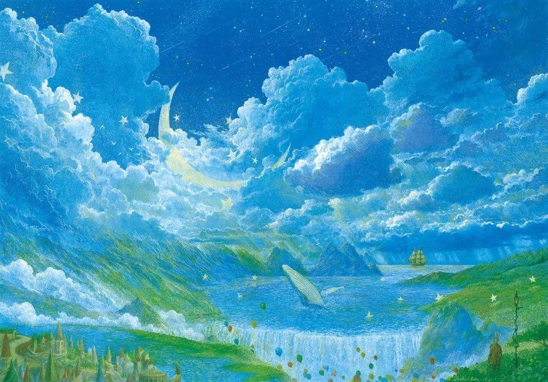 绘画|蓝色的梦图片