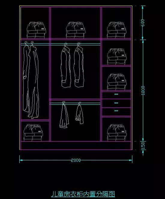 收纳翻倍|实用一生的衣柜内部结构设计图图片