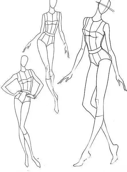 干货素材 | 服装手绘效果图【人体百态】
