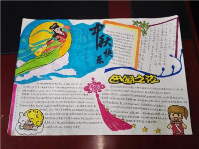 在节假日期间大家搜集,学习了中秋节的相关资料,并制作了精美的手抄报图片