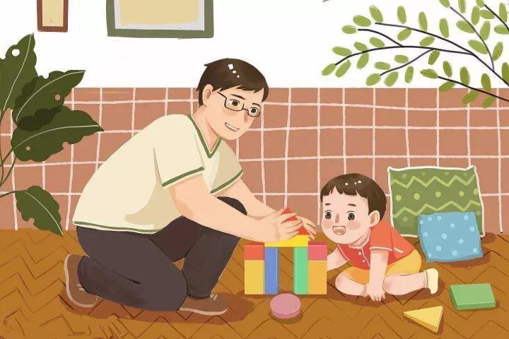 爸爸和宝宝卡通
