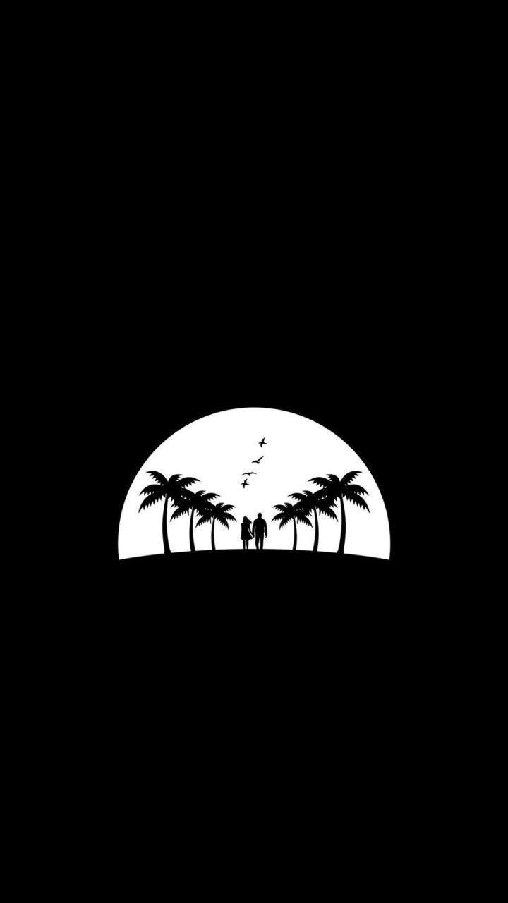 【黑色】黑白插画手机壁纸