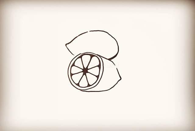 简笔画教程: 一只很很萌很q的柠檬