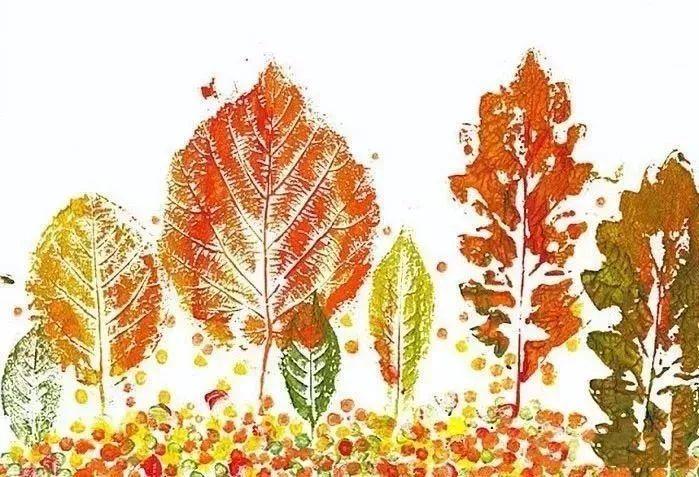 树叶拼贴画图片