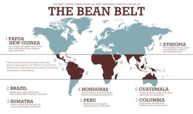 咖啡世界地图