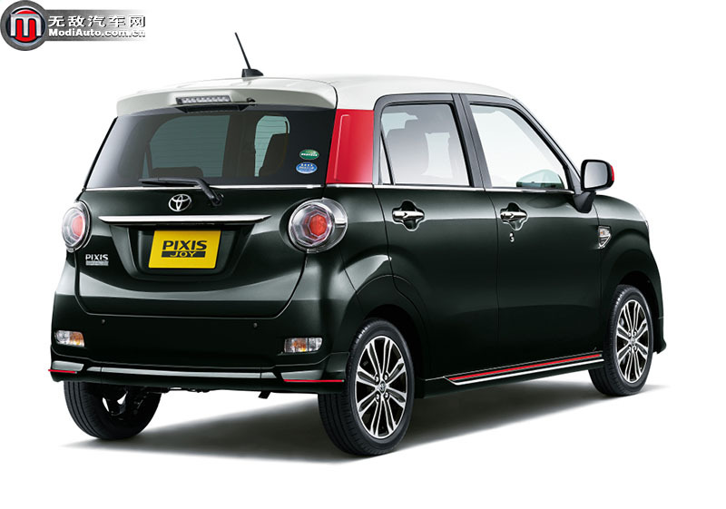 丰田pixis joy依旧是一款典型的五门掀背微型车.