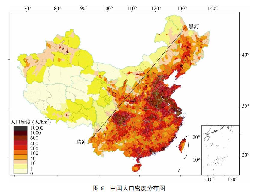 中国人口密度分布_人口的疏密程度可以用什么图来表示