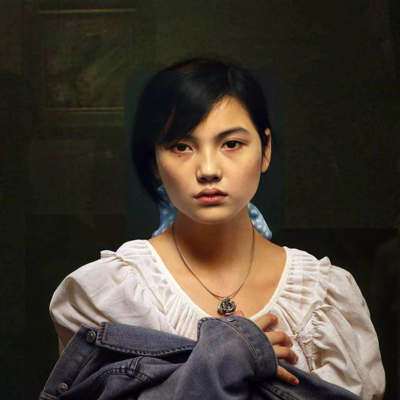 中国写实主义油画_油画家冷军是中国当代超写实主义油画的领军人物.