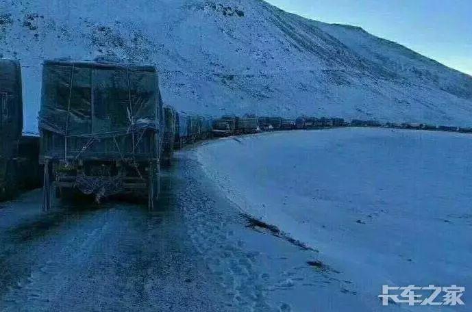 重要紧急:唐古拉山大雪青藏线严重拥堵