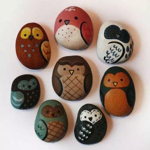 手工课 创意石头画