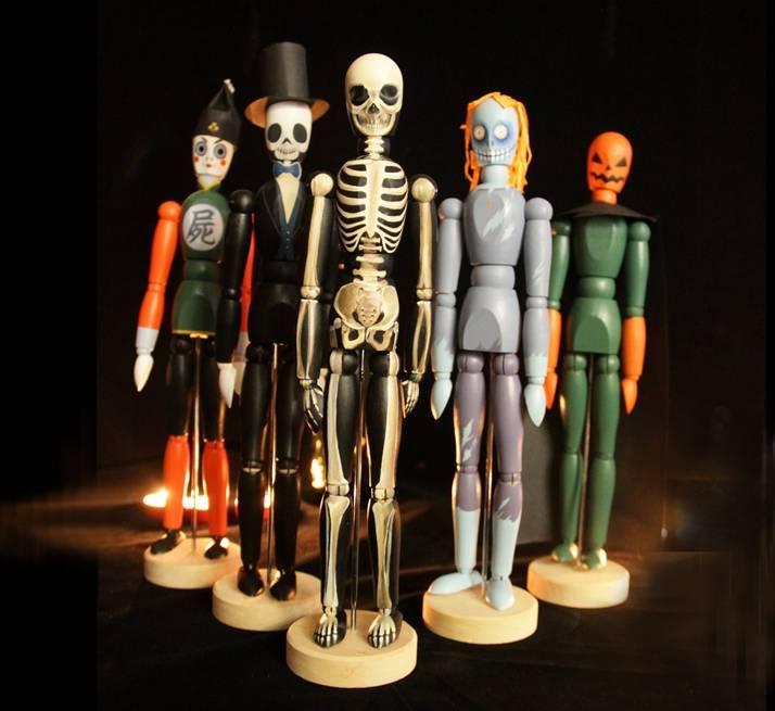吉特达 木人 绘制而成的僵尸天团, 无论是装扮派对, 还是作为身上造型