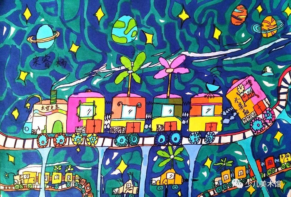 儿童主题绘画 —— 科学幻想画_搜狐科技_搜狐网图片