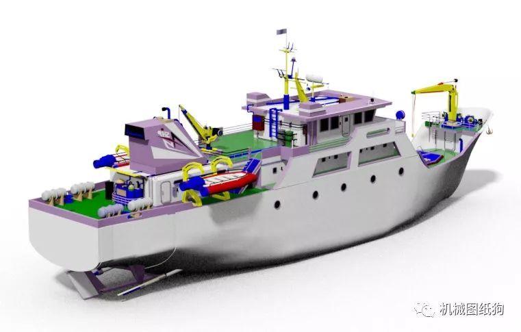 【海洋船舶】printis船舶设计图纸 catia建模