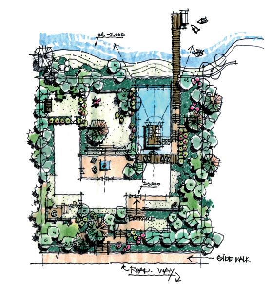手绘教程 | 解析设计草图表达景观设计思维