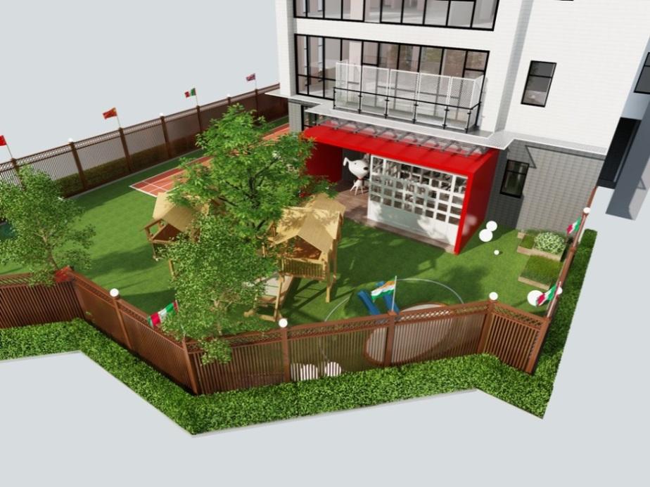 京东幼儿园室外活动区效果图图片