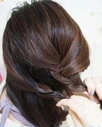 2款長頭發女生漂亮的編發扎發圖解!圖片