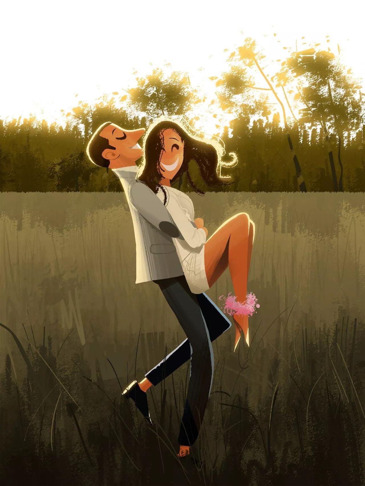 插画丨甜蜜又幸福的情侣日常