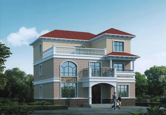 农村三层楼房新款设计图(全套施工图 彩色效果图)
