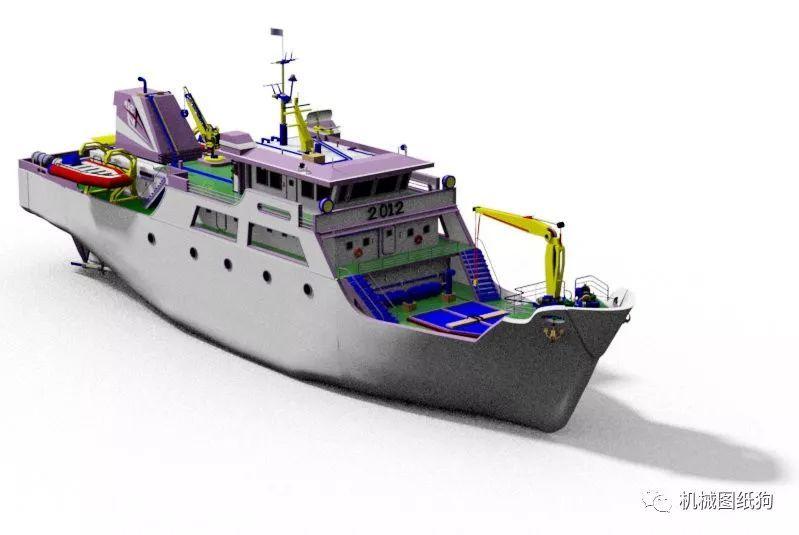 【海洋船舶】printis船舶设计图纸 catia建模图片