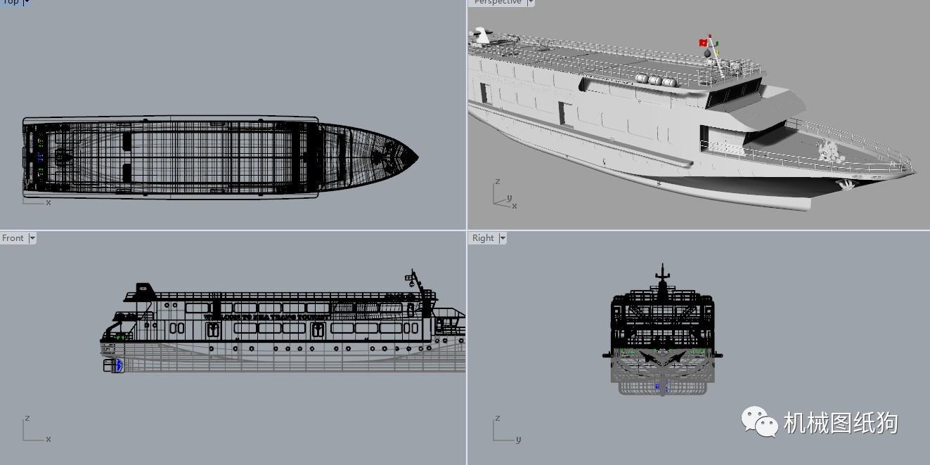 轮船v轮船轮船Rhino建模邮图纸3D设计图设计师ui猝死图片