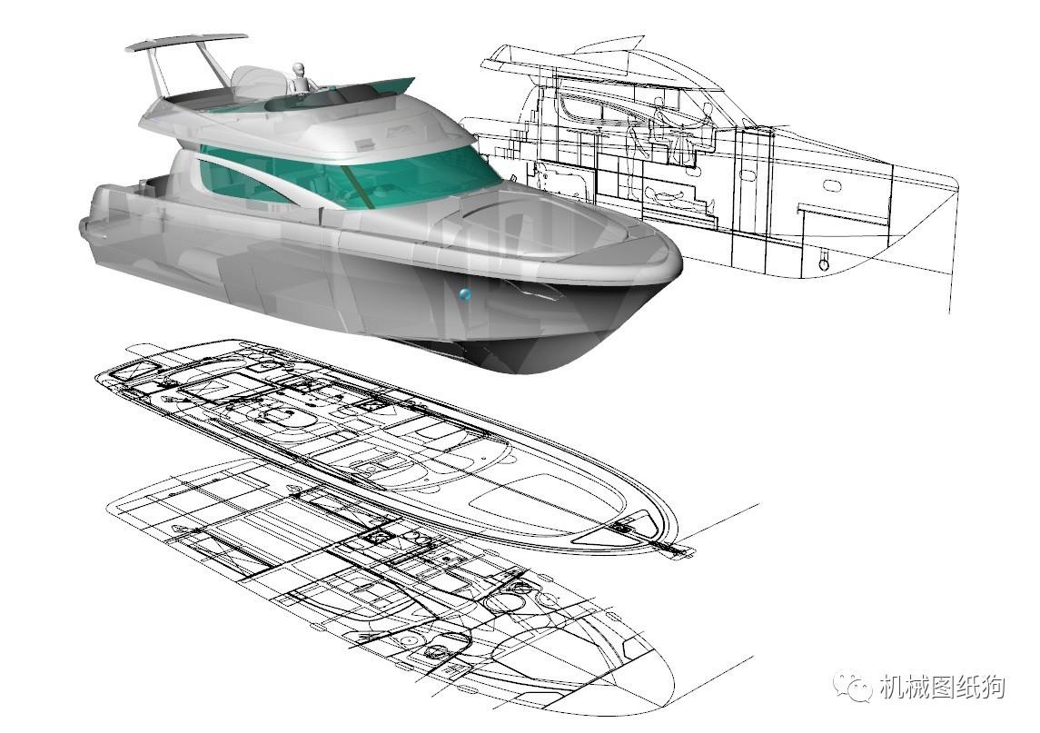 【海洋船舶】46英尺海报v海洋图纸IGSSTP平面设计构成游艇图片