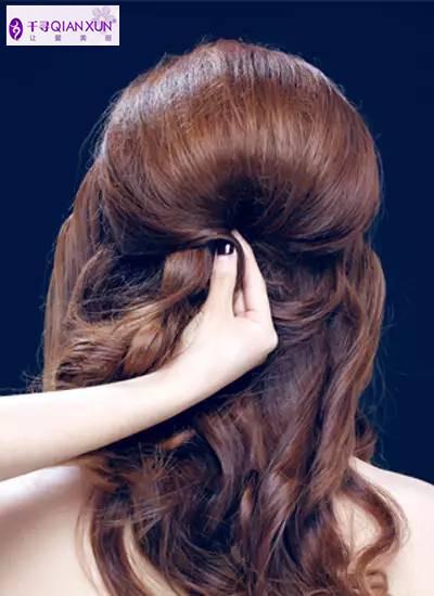 千寻发饰| 韩式新娘盘发发型步骤图解 打造优雅新娘发型