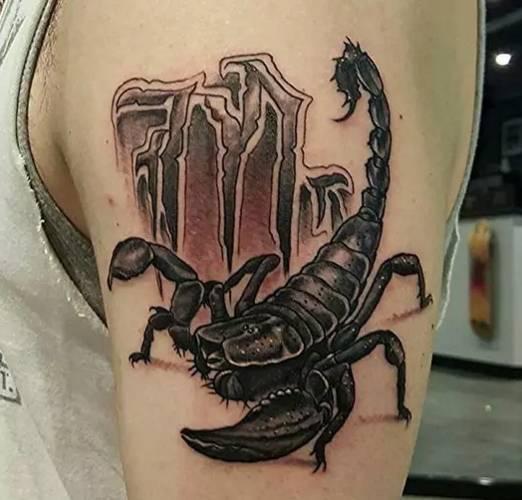 纹身图案:蝎子~凶狠不屈的象征,蝎子纹身分享