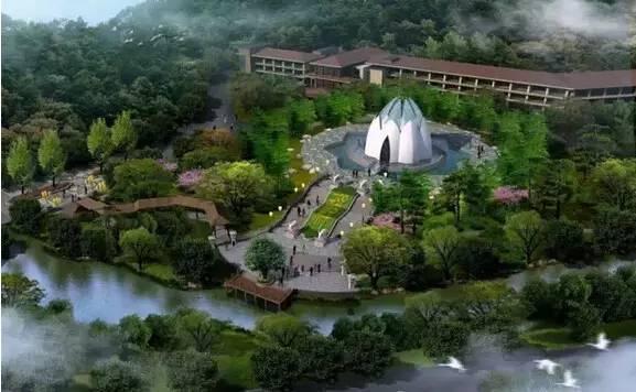 经律论文化旅游小镇位于广东省韶关市曲江区小坑镇小坑国家森林公园内图片