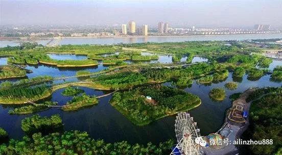 """林州:城南""""大动作"""",你知道吗?有1000亩水面的桃园河湿地公园建在哪?图片"""