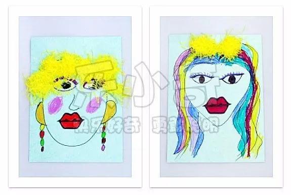 乐小奇创意美术美育之儿童人物肖像画!