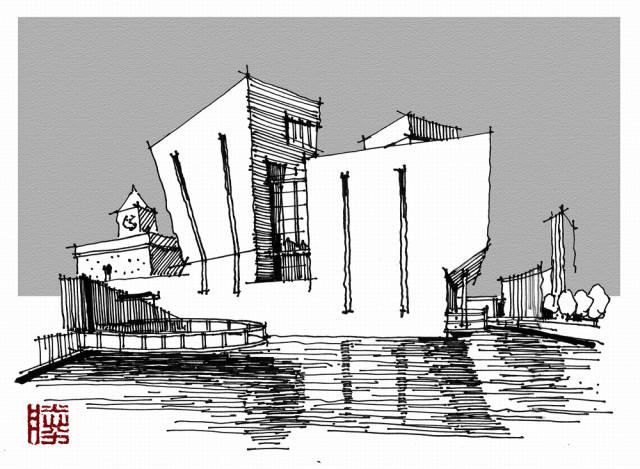 转疯了:如何练习建筑手绘?