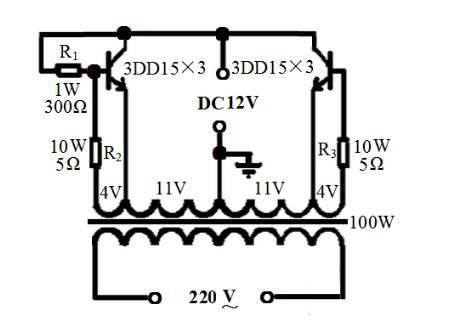 直流12v转220v交流逆变器电路图 (500w)(七)