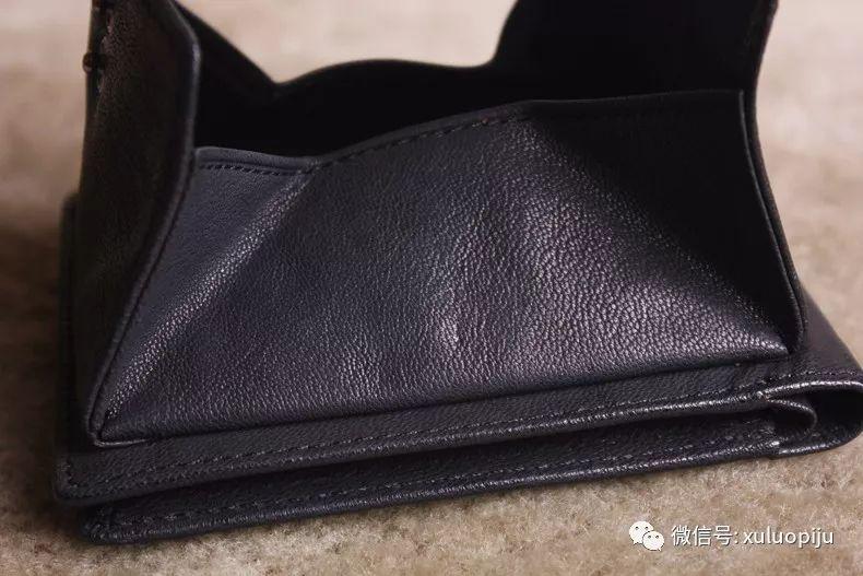 【墟落手工皮具】 横短款复古 个性 时尚头层牛皮钱包 手工制作