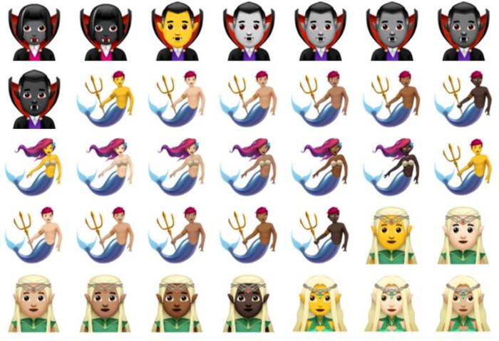 精灵王,吸血鬼,美人鱼.emoji发布190个最新表情图片