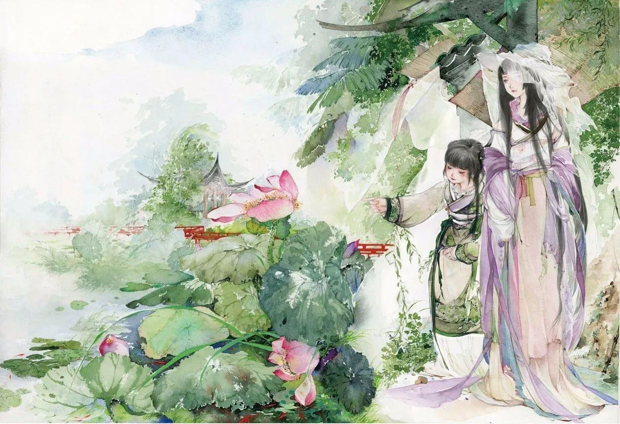 她是古风水彩第一人,十年如一日,让中国风美艳世界