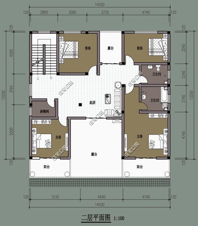 新中式农村别墅,15米x13米,新版平面图方案更实用?