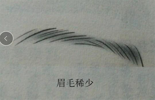 三,眉毛稀少的人个性软弱,眉毛间断的人孤僻怪异