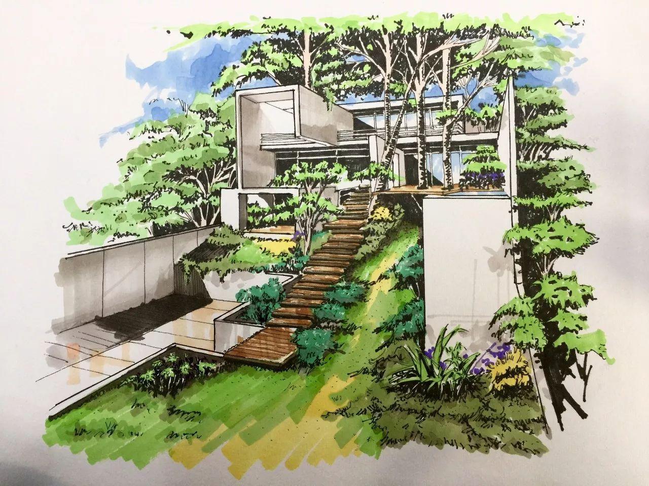 吴老师建筑手绘示范