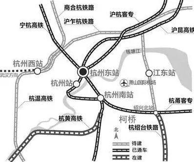 杭州至绍兴城际铁路路线示意图(图片来源于网络)