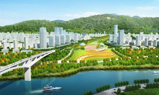 """南部新区规划效果图   从规划内容来看,   在宜宾市中心城区""""一城四区,两轴多中心""""空间布局中,南部新区位于三江主城的南部."""