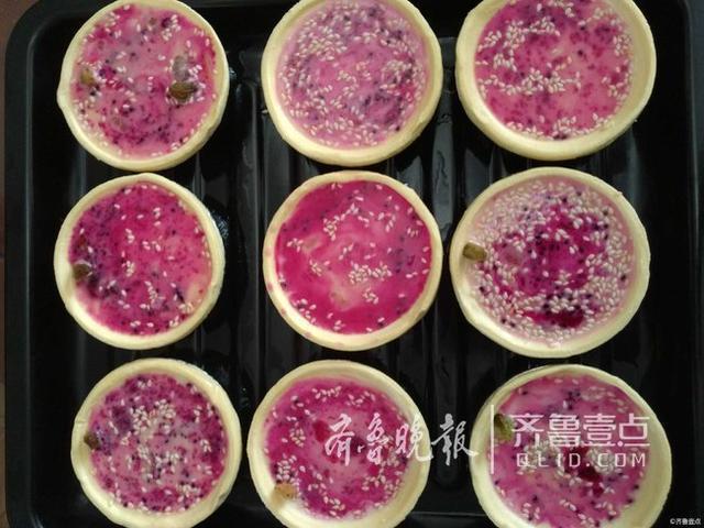 情报站|济南妈妈好厉害!用红心火龙果做蛋挞给娃吃图片