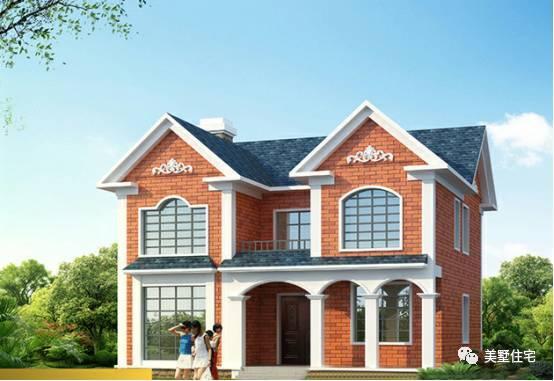 白三种颜色的搭配,把你的家装出超级小别墅的效果来,门庭前四柱罗马柱