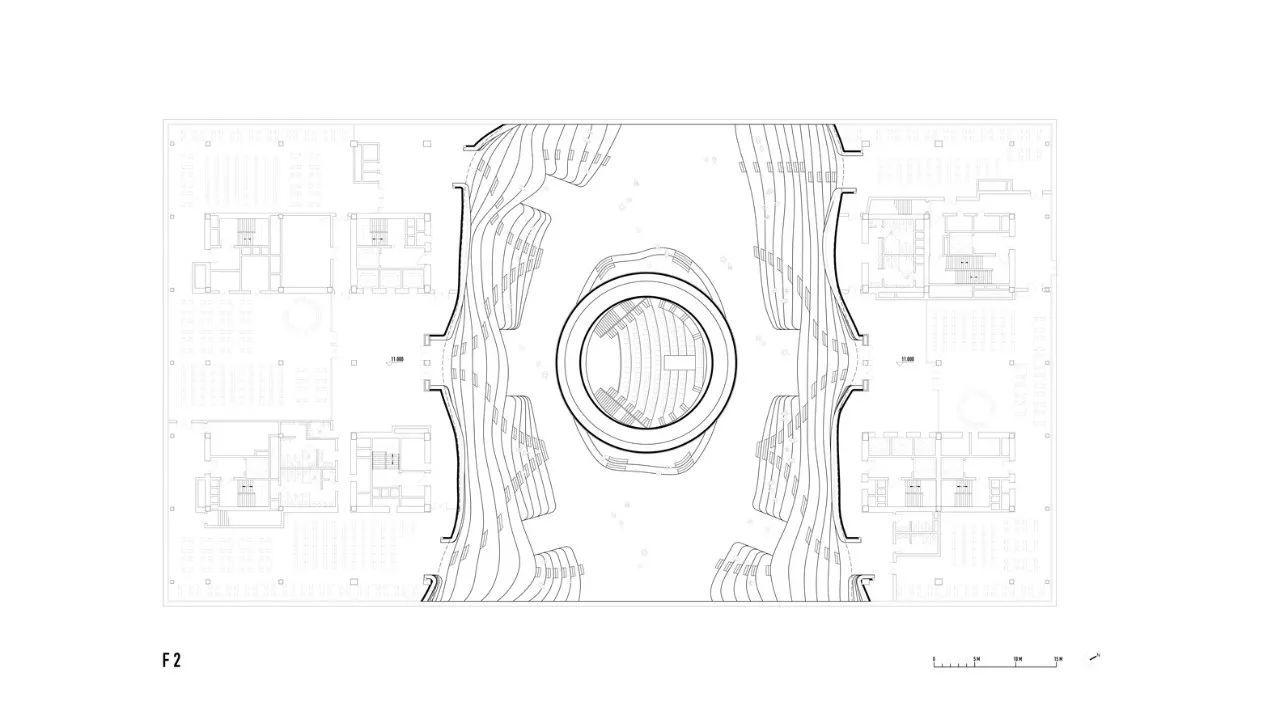 效果图 屋顶平面图 建筑师:mvrdv   天津城市规划设计院 地址:中国
