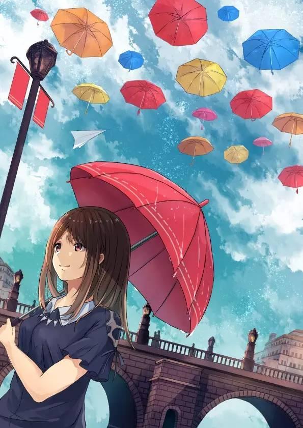 那些行走在雨中的浪漫 看到最后一张你有什么感觉图片