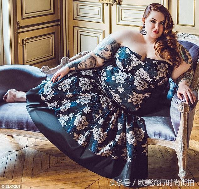 大尺寸模特苔丝·霍利迪将她的曲线展现在一系列非常