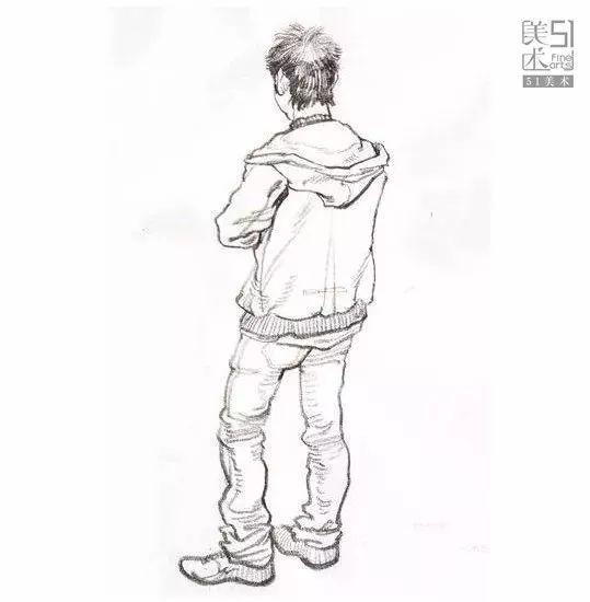 背影速写_【精准】抓住速写精髓才能提高作画技巧改善画面