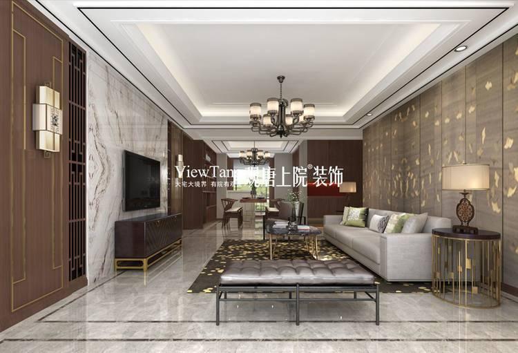 龙湖新中式装修效果图之客餐厅