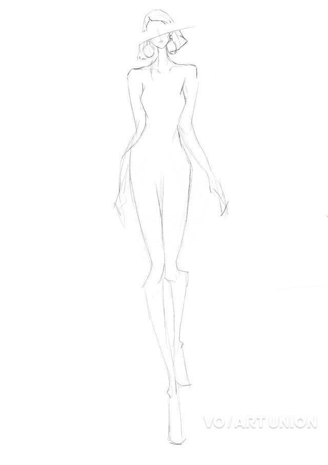 人体姿势动态,相关手绘技法的掌握 头手脚刻画 五官妆容发型 衣服廓形